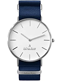 Julian Ross JR100703 Reloj de pulsera, Hombre, caja 40mm, Cuarzo analógico, Correa de tela, Marca Italiana