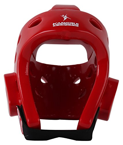 HYSENM karate taekwondo sparring arti marziali sport Headgear Head Guard Gear Helmet Protector, Uomo, Red, XL