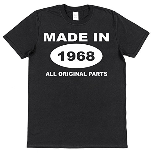 Click My Clobber 50th Made In 1968 All Original Parts fiftieth Birthday T-Shirt