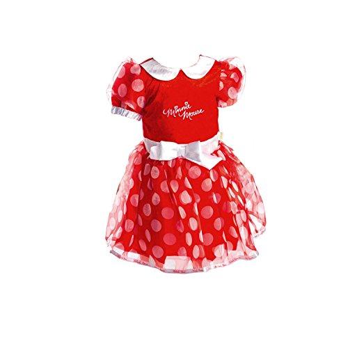 Disney-Baby-Minnie-Mouse-rojo-vestido-con-diadema