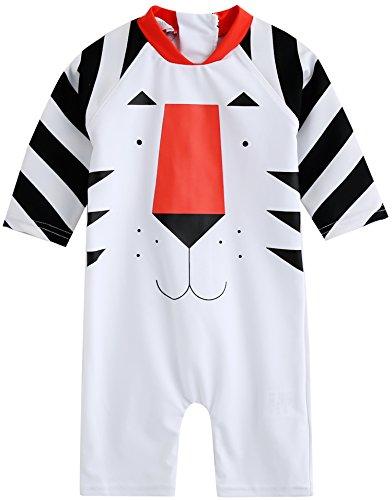 Vaenait Baby 56-80 Baby Badeanzug Infant Jungen Rashguard Swimwear Mit Kappe Water Tiger Baby Baby S