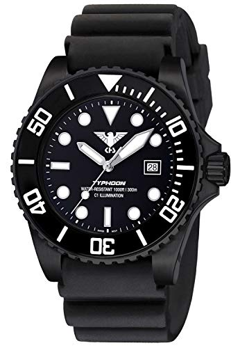 KHS Diving Watch Typhoon Black Steel TYBS.DB