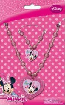 nie Maus 2-er Modeschmuck Set für Kinder, bestehend aus Halskette (Collier Kette) und Armband ()