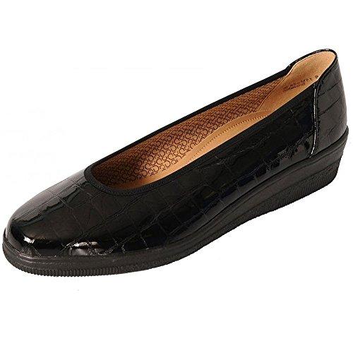 Gabor Piquet Patent, Ballerine Donna Black Croc