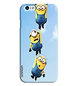 Omnam Minion Flying Printed Designer Back Cover Case For Apple iPhone 6 Plus S