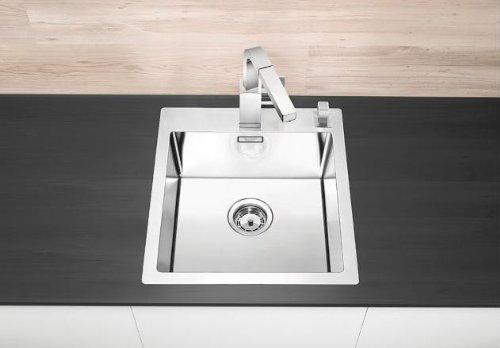 Preisvergleich Produktbild Blanco Claron 400-IF/A Edelstahl-Spülbecken Küchenspüle flächenbündig Spültisch