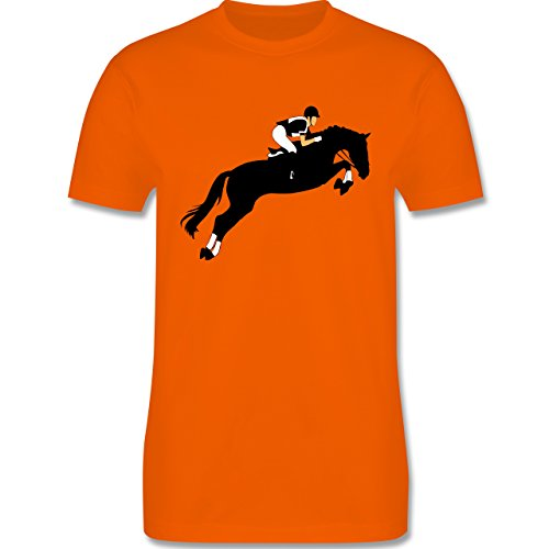 Reitsport - Springreiten Springreiten - Herren Premium T-Shirt Orange