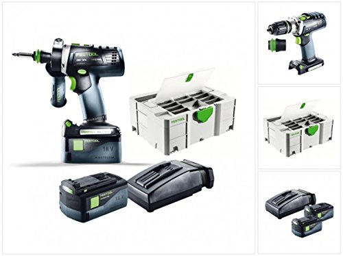 Preisvergleich Produktbild Festool 564582 Akku-Bohrschrauber, kabellos, Akku DRC 18/4 Li 5,2-Plus