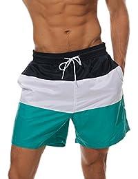 Arcweg Bañador Hombre Chico Playa Poliéster Pantalon Corto Hombre Deporte  Secado Rápido Bañadores Natacion Ligero Moda Shorts Verde… bbfd3e7533