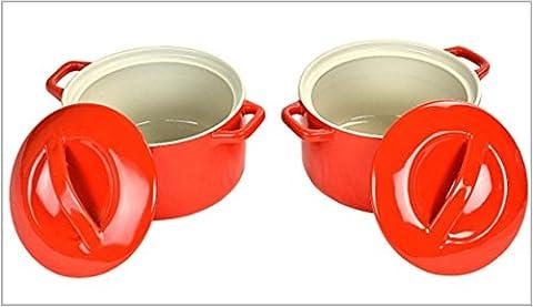 SWAN Round Casserole Dishes (Set of 2) - Red !!! HALF PRICE SALE !!!
