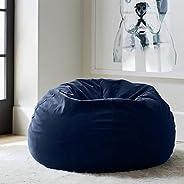 Regal In House relaxing bean bag velvet Large - Blue