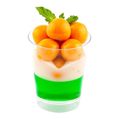 Mini Parfait Glas, Parfait Tasse, Dessertbecher – 57 ml – Klar – Premium Einweg-Kunststoff – 20 ct Box
