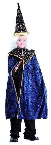 Foxxeo 10083 | Kostüm Zauberer Magier Merlin für Kinder, (Magier Kostüm Kind)
