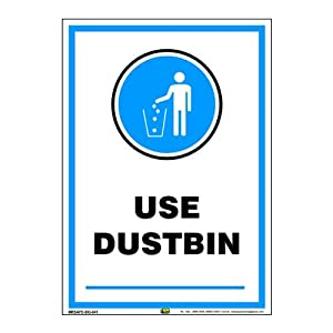 Mr. Safe – Use Dustbin Sign PVC Sticker A3 (11.7 inch X 16.5 inch)