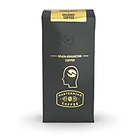 Mastermind Coffee Co. Hyperfocus – Brain Enhancing Nootropic Coffee, Ground Organic-Coffee Blended With Yerba Mate For Drip – Boosts Mental Clarity, Better Memory & All-Day Energy