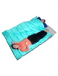 Bolsa De Dormir Doble Exterior Otoño Invierno Camping Caliente Pareja Sobres Bolsa De Dormir Almuerzo Adulto Ocio Bolsa De Dormir 2.8Kg Engrosamiento 2.8Kg Azul
