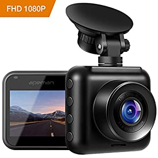 apeman Mini In Car Dash Cam 1080P FHD Car DVR 170°Wide Angle Advanced Sensor Motion Detection Wide Dynamic Range G-sensor Protection Loop Recording