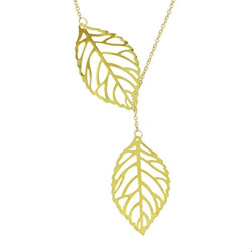 or-argent-s-berzogene-double-feuilles-de-forme-de-longue-h-ngende-collier-avec-pochette