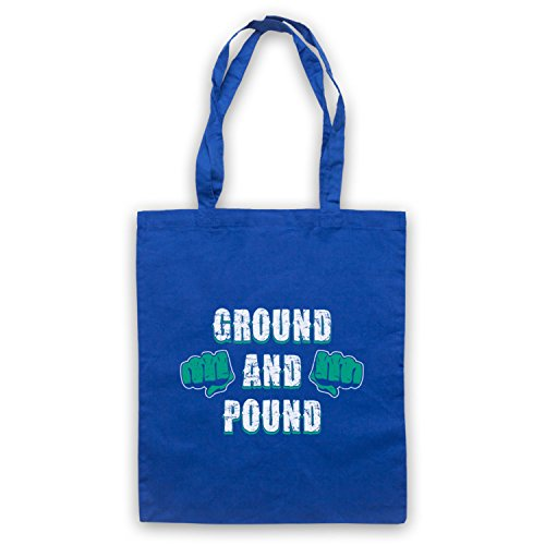 Ground And Pound MMA Fighting borsa custodia Blu