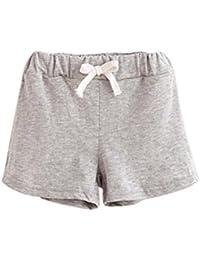 Pantalones cortos para niñas niños, bbsmile bebé pantalones verano niños algodón pantalones cortos para niños y niñas