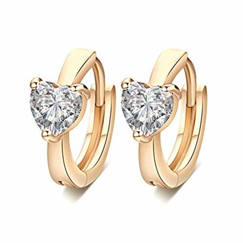 AIUIN 1 x Ring aus Legierung aus Silber mit Strass in Herzform, Ring Zum Öffnen von Schmuck und Zubehör weiß