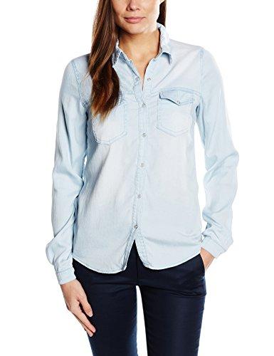 Vila Clothes Damen Regular Fit Hemd VIBISTA Denim Shirt-NOOS, Gr. 38 (Herstellergröße: M), Blau (Light Blue Denim Light Blue Denim) (Blue Damen-shirt Light)