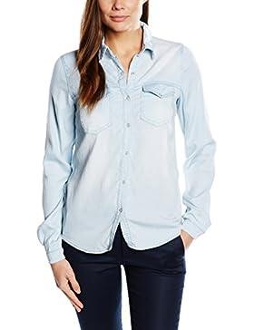 Vila Vibista Denim Shirt-noos - Blusa Mujer