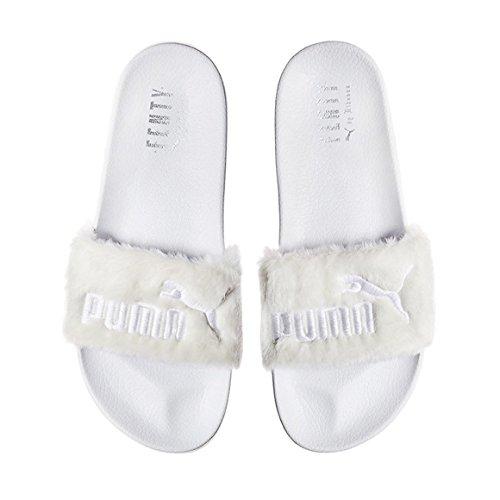Brand New Rihanna Fenty X Puma Fur diapositive 3.662.266-03 White