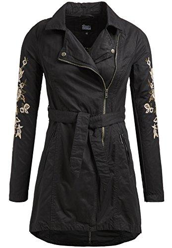 Khujo Poppy 1294CO171 Damen Mantel Uebergang Fruehling, 200 black, S