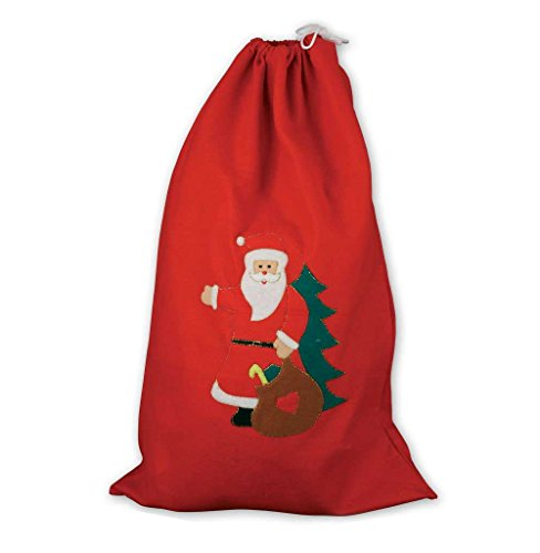 Nikolaus-Sack aus Filz mit Weihnachtsmann-Motiv, Geschenke, (Grüne Kostüm Weihnachtsmann)