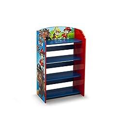 Delta Children Paw Patrol Libreria Bambino, Legno, Blu, 50.17×26.03×83.23 cm