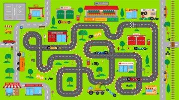 Kinderzimmer Stoff–Play Matte–Panel ist 60cm x 110cm–von Northcott–100% Baumwolle grün (Baumwoll-gewebe-panel)