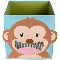 Clever Creations Sonriente Mono Plegable Caja de Juguete y de Almacenamiento Caja y Armario Organizador para niños