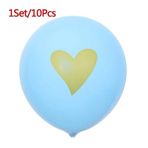 CTGVH Set of 10Love Herz Latex Luftballons für Hochzeit Baby Geburtstag Party Ballon Dekorationen, Latex, blau, 30,48 cm