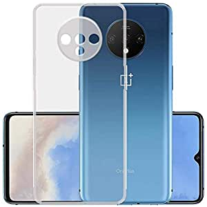 YOFO Back Cover for OnePlus 7T (Flexible|Silicone|Transparent) Full Camera Protection with Anti Dust Plug