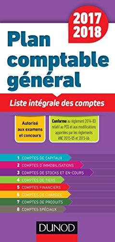 Plan comptable général 2017/2018 - Liste intégrale des comptes