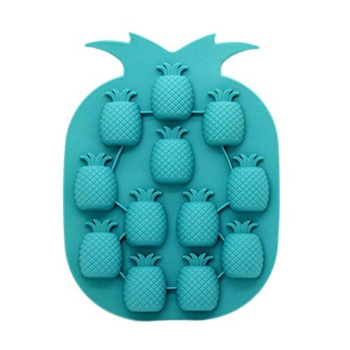 BigBigShop 2 Stück Ananas Form Silikon Eiswürfelform Werkzeuge DIY Schokolade Eisformen (zufällige Farbe)