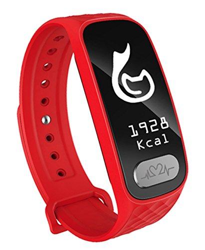 Fitness Tracker mit Pulsmesser intelligente Armbanduhr mit Anrufen für Smartphone erinnern