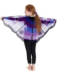 Châle de Bohème d'impression de guindineau ailes de papillon Echarpes Châle filles papillon ailes châle foulards dames nymphe Accessoire costume pashmina