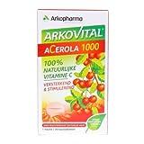 Arkopharma - lot de 2 boites Arkovital Acerola 1000 - gout fruits rouges - 60 Comprimés à Croquer