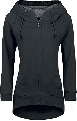 Forplay Zip-Up Longjacket Felpa jogging donna nero 4XL