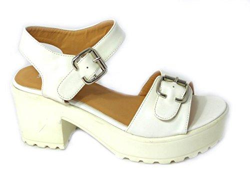 SKO'S , Sandales pour femme - White (8552-23)