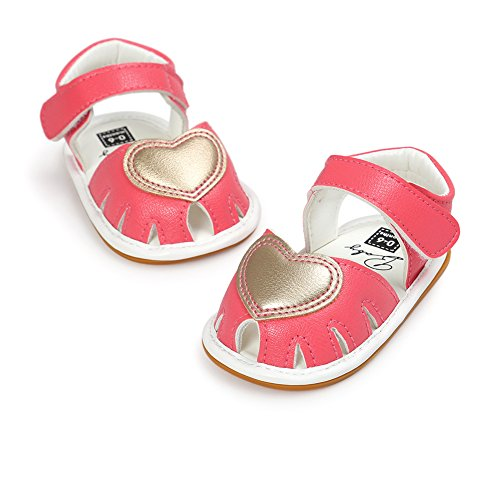 Baby Mädchen Schuhe, Chickwin Sommer 6-18 Monate Anti-Rutsch Weiche Alleinige Kleinkind Schuhe Krabbelschuhe Wanderer Weiche Alleinige Sandalen (6-12Monat, A) (Anzug Wolle Bestickt)