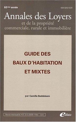 Guide des baux d'habitation et mixtes