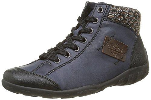 Rieker L65, Sneakers Hautes femme Bleu (Schwarz/Ozean/Terra/Kastanie/06)