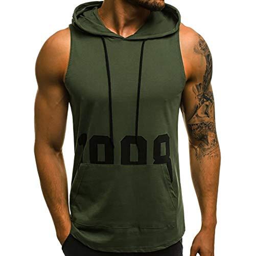 Fannyfuny camiseta Hombre Camisa Verano Camisetas Elástica de Fitness Tank Top Gym Muscle Estampado...