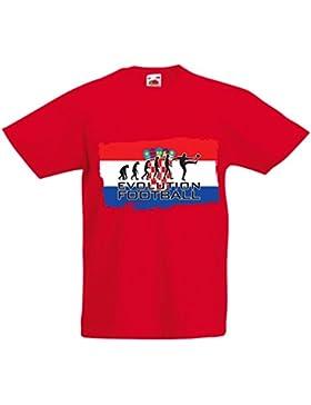 lepni.me Camiseta Niños/Niñas La Evolución del Equipo Nacional de Fútbol de Croacia, Copa Mundial 2018 Rusia