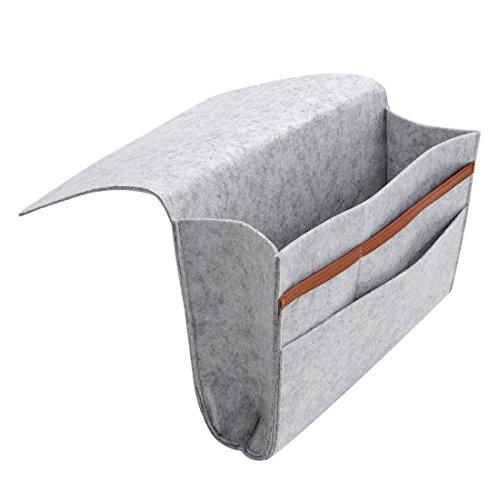 Preisvergleich Produktbild milong Filz, neben Caddy Storage Pocket Organizer Portemonnaie für Bett Tablet Magazin Handy Sofa Schreibtisch Halterung