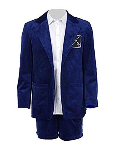 Herren Blau Anzug Kurze Hosen Band Leistung Kostüm (XL, Blau) (Australische Männer Kostüm)