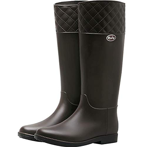WANONE Wellies Women Wellington Boots for Ladies Waterproof Wellys Tall Rain Boots